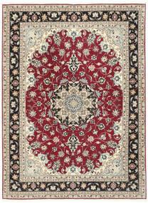 Tabriz 50 Raj Teppe 152X205 Ekte Orientalsk Håndknyttet Lys Grå/Beige (Ull/Silke, Persia/Iran)