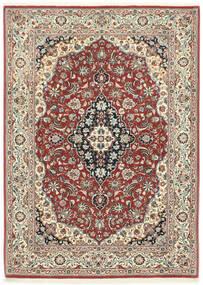 Ilam Sherkat Farsh Teppe 106X146 Ekte Orientalsk Håndknyttet Mørk Rød/Mørk Grå (Ull, Persia/Iran)