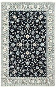 Nain 6La Teppe 130X200 Ekte Orientalsk Håndknyttet Mørk Blå/Beige (Ull/Silke, Persia/Iran)