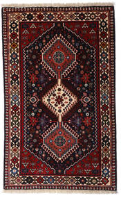 Yalameh Teppe 79X130 Ekte Orientalsk Håndknyttet Mørk Rød (Ull, Persia/Iran)