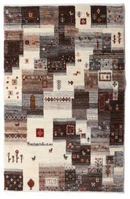 Gabbeh Persia Teppe 87X137 Ekte Moderne Håndknyttet Beige/Mørk Brun/Lys Grå (Ull, Persia/Iran)