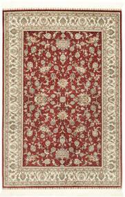 Herike Ch Teppe 124X186 Ekte Orientalsk Håndknyttet Mørk Rød/Beige (Silke, Kina)