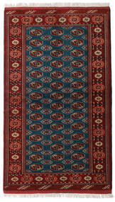 Turkaman Teppe 129X219 Ekte Orientalsk Håndknyttet Mørk Rød/Svart (Ull, Persia/Iran)