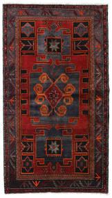 Hamadan Teppe 125X224 Ekte Orientalsk Håndknyttet Mørk Rød/Mørk Grå (Ull, Persia/Iran)