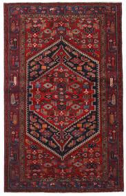 Hamadan Teppe 132X213 Ekte Orientalsk Håndknyttet Mørk Rød (Ull, Persia/Iran)