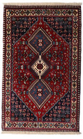 Yalameh Teppe 83X134 Ekte Orientalsk Håndknyttet Mørk Rød (Ull, Persia/Iran)
