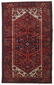 Hamadan Teppe 129X208 Ekte Orientalsk Håndknyttet Mørk Rød (Ull, Persia/Iran)