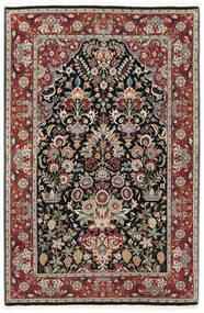 Ilam Sherkat Farsh Silke Teppe 105X155 Ekte Orientalsk Håndknyttet Mørk Rød/Lys Grå (Ull/Silke, Persia/Iran)
