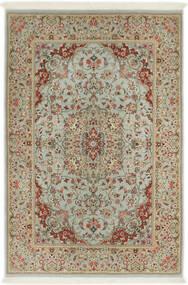 Ilam Sherkat Farsh Silke Teppe 110X168 Ekte Orientalsk Håndknyttet Lysbrun/Lys Grå (Ull/Silke, Persia/Iran)