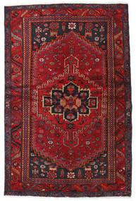 Hamadan Teppe 131X201 Ekte Orientalsk Håndknyttet Mørk Rød/Mørk Brun (Ull, Persia/Iran)
