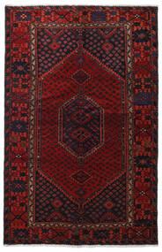 Hamadan Teppe 129X201 Ekte Orientalsk Håndknyttet Mørk Rød (Ull, Persia/Iran)