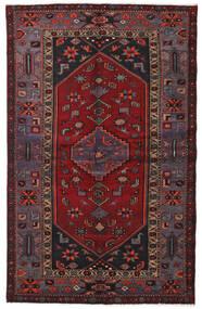 Hamadan Teppe 136X214 Ekte Orientalsk Håndknyttet Mørk Rød/Svart (Ull, Persia/Iran)