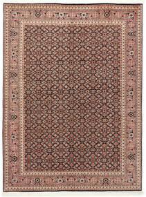 Tabriz 50 Raj Teppe 150X200 Ekte Orientalsk Håndknyttet Mørk Rød/Mørk Brun (Ull/Silke, Persia/Iran)