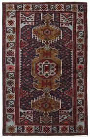 Hamadan Teppe 132X208 Ekte Orientalsk Håndknyttet Mørk Rød/Mørk Grå (Ull, Persia/Iran)