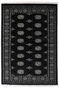 Pakistan Bokhara 3Ply Teppe 135X196 Ekte Orientalsk Håndknyttet Svart/Mørk Grå (Ull, Pakistan)