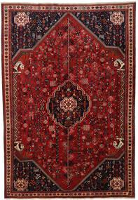 Ghashghai Teppe 207X300 Ekte Orientalsk Håndknyttet Mørk Rød/Mørk Brun (Ull, Persia/Iran)