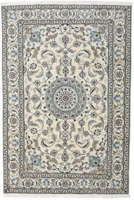 Nain Teppe 195X284 Ekte Orientalsk Håndknyttet Lys Grå/Mørk Grå (Ull, Persia/Iran)