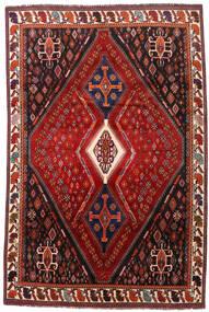 Ghashghai Teppe 208X317 Ekte Orientalsk Håndknyttet Mørk Rød/Rust (Ull, Persia/Iran)