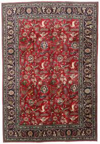 Tabriz Teppe 203X295 Ekte Orientalsk Håndknyttet Mørk Rød/Svart (Ull, Persia/Iran)