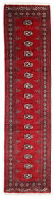 Pakistan Bokhara 3Ply Teppe 76X305 Ekte Orientalsk Håndknyttet Teppeløpere Mørk Rød/Rød (Ull, Pakistan)