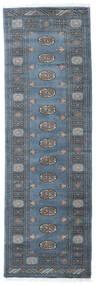 Pakistan Bokhara 3Ply Teppe 80X251 Ekte Orientalsk Håndknyttet Teppeløpere Blå/Mørk Blå (Ull, Pakistan)
