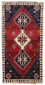 Ghashghai Teppe 98X185 Ekte Orientalsk Håndknyttet Mørk Rød/Svart (Ull, Persia/Iran)