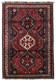 Ghashghai Teppe 124X183 Ekte Orientalsk Håndknyttet Svart/Mørk Rød (Ull, Persia/Iran)
