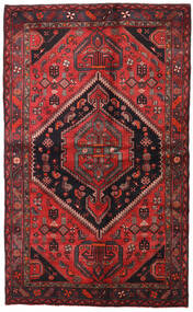 Hamadan Teppe 138X225 Ekte Orientalsk Håndknyttet Mørk Rød/Svart (Ull, Persia/Iran)