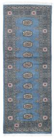 Pakistan Bokhara 2Ply Teppe 75X201 Ekte Orientalsk Håndknyttet Teppeløpere Mørk Grå/Blå (Ull, Pakistan)