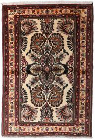 Hamadan Teppe 102X152 Ekte Orientalsk Håndknyttet Mørk Brun (Ull, Persia/Iran)