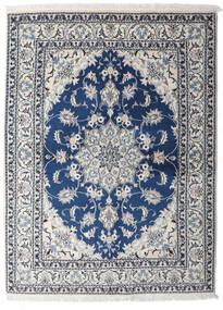 Nain Teppe 153X206 Ekte Orientalsk Håndknyttet Lys Grå/Mørk Blå (Ull, Persia/Iran)