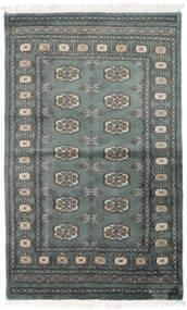Pakistan Bokhara 3Ply Teppe 92X151 Ekte Orientalsk Håndknyttet Mørk Grå/Mørk Grønn (Ull, Pakistan)