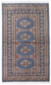 Pakistan Bokhara 2Ply Teppe 95X157 Ekte Orientalsk Håndknyttet Lys Grå/Svart (Ull, Pakistan)