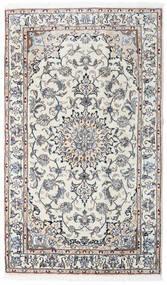 Nain Teppe 120X204 Ekte Orientalsk Håndknyttet Lys Grå/Mørk Beige (Ull, Persia/Iran)