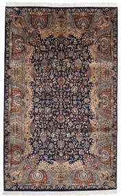 Keshan Indisk Teppe 193X310 Ekte Orientalsk Håndknyttet Svart/Lysbrun (Ull, India)