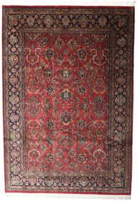 Keshan Indisk Teppe 196X285 Ekte Orientalsk Håndknyttet Mørk Rød/Mørk Grå (Ull, India)