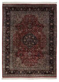 Keshan Indisk Teppe 248X335 Ekte Orientalsk Håndknyttet Svart/Beige (Ull, India)