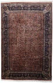 Keshan Indisk Teppe 241X368 Ekte Orientalsk Håndknyttet Svart/Mørk Brun (Ull, India)