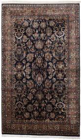 Keshan Indisk Teppe 186X310 Ekte Orientalsk Håndknyttet Svart/Mørk Brun (Ull, India)
