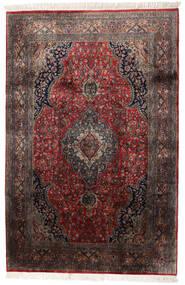 Keshan Indisk Teppe 184X278 Ekte Orientalsk Håndknyttet Mørk Brun/Mørk Rød (Ull, India)