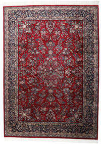 Keshan Indisk Teppe 250X348 Ekte Orientalsk Håndknyttet Mørk Rød/Mørk Brun Stort (Ull, India)