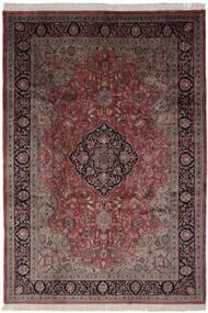 Keshan Indisk Teppe 247X355 Ekte Orientalsk Håndknyttet Svart/Mørk Brun (Ull, India)