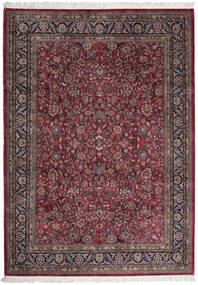 Sarough Indisk Teppe 255X357 Ekte Orientalsk Håndknyttet Mørk Brun/Mørk Rød Stort (Ull, India)