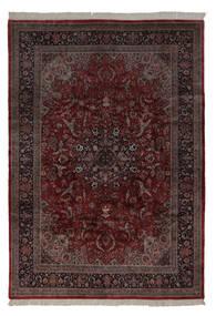 Keshan Indisk Teppe 241X350 Ekte Orientalsk Håndknyttet Svart/Beige (Ull, India)