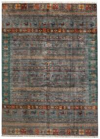 Moderne Afghan Teppe 210X289 Ekte Moderne Håndknyttet Mørk Grå/Mørk Grønn (Ull, Afghanistan)