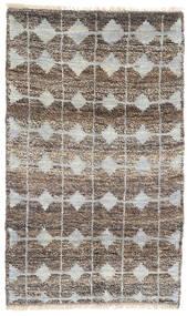 Moroccan Berber - Afghanistan Teppe 115X188 Ekte Moderne Håndknyttet Lys Grå/Mørk Grå (Ull, Afghanistan)