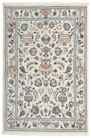 Kashmar Teppe 101X154 Ekte Orientalsk Håndknyttet Lys Grå/Hvit/Creme (Ull, Persia/Iran)