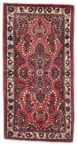 Sarough Teppe 70X130 Ekte Orientalsk Håndknyttet Mørk Rød/Svart (Ull, Persia/Iran)