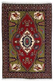Gabbeh Kashkooli Teppe 80X122 Ekte Moderne Håndknyttet Mørk Rød/Mørk Grå (Ull, Persia/Iran)