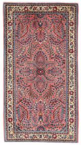 Sarough Teppe 70X126 Ekte Orientalsk Håndknyttet Mørk Rød/Mørk Lilla (Ull, Persia/Iran)